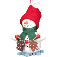 Snowman with gingerbread, Ulbricht Christmas Ornaments - SavvyNiche.com
