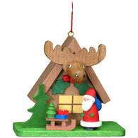 Santa in Elk House, Ulbricht Christmas Ornaments - SavvyNiche.com