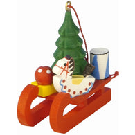 Wood Christmas Ornament Toys on sled, Ulbricht Christmas Ornaments - SavvyNiche.com