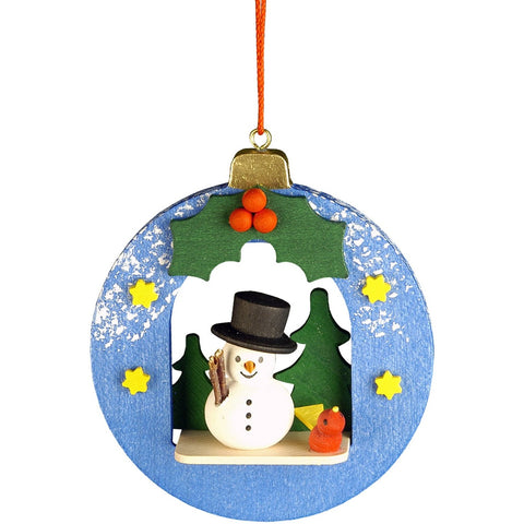Snowman in Christmas Ball, Ulbricht Christmas Ornaments - SavvyNiche.com
