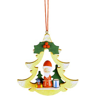 Santa in Yellow Tree, Ulbricht Christmas Ornaments - SavvyNiche.com