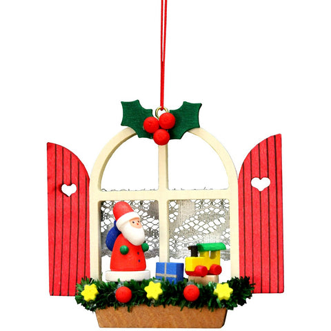 Santa in window, Ulbricht Christmas Ornaments - SavvyNiche.com