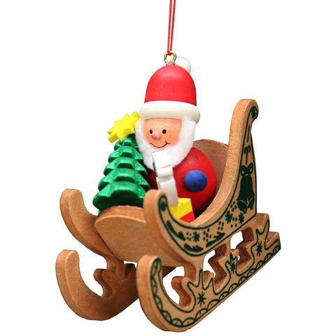 Santa Clause riding sleigh, Ulbricht Christmas Ornaments - SavvyNiche.com