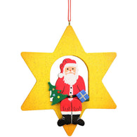 Santa Claus sitting on a star, Ulbricht Christmas Ornaments - SavvyNiche.com