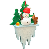 Snowman on an icicle, Ulbricht Christmas Ornaments - SavvyNiche.com