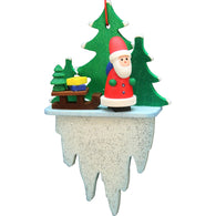 Santa Clause on an icicle, Ulbricht Christmas Ornaments - SavvyNiche.com