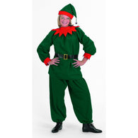 Velour Elf Suit, Elf & Santas Helper Costume Suits - SavvyNiche.com