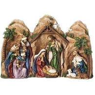 3 Piece Nativity Grotto Set, Christmas Nativity Figurine Scene Sets - SavvyNiche.com