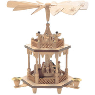 Nativity Scene Manger and Angels, Richard Glaesser Christmas Pyramids - SavvyNiche.com