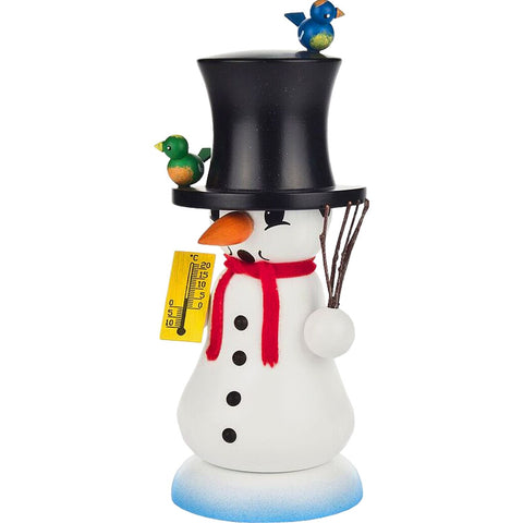 Snowman with thermometer, Dregeno Incense Burner Smokers - SavvyNiche.com