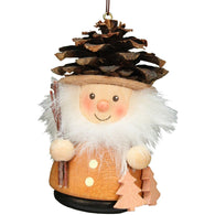 Wood Christmas Ornaments Pine Cone Man, Ulbricht Christmas Ornaments - SavvyNiche.com