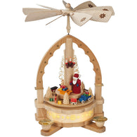Santa scattered with toys, Richard Glaesser Christmas Pyramids - SavvyNiche.com