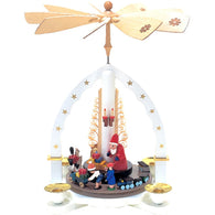 Santa and Children, Richard Glaesser Christmas Pyramids - SavvyNiche.com