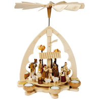 Large Nativity Scene, Richard Glaesser Christmas Pyramids - SavvyNiche.com