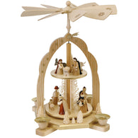 Two Tier Nativity Scene, Richard Glaesser Christmas Pyramids - SavvyNiche.com