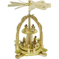 Nativity Scene with Angels, Richard Glaesser Christmas Pyramids - SavvyNiche.com