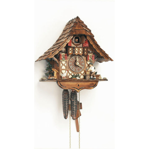 Chalet Cuckoo Clock Wood Chopper with Goose, 1 Day Chalet Cuckoo Clocks - SavvyNiche.com