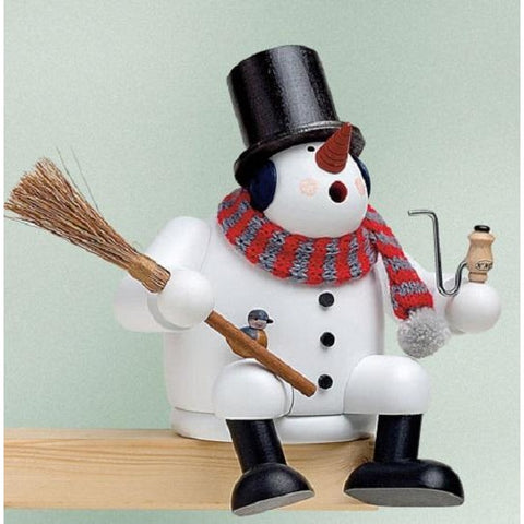 Sitting Snowman, KWO German Christmas Smokers - SavvyNiche.com