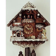 Musical Cuckoo Clocks<br>Winter Scene<br>8 Day Movement & Musical
