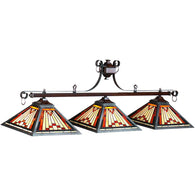 Laradeo Billiard Light, Stained Glass Pool Table Light - SavvyNiche.com