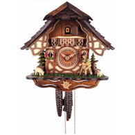 Bavarian Cuckoo Clock with Volksmarcher, 1 Day Chalet Cuckoo Clocks - SavvyNiche.com