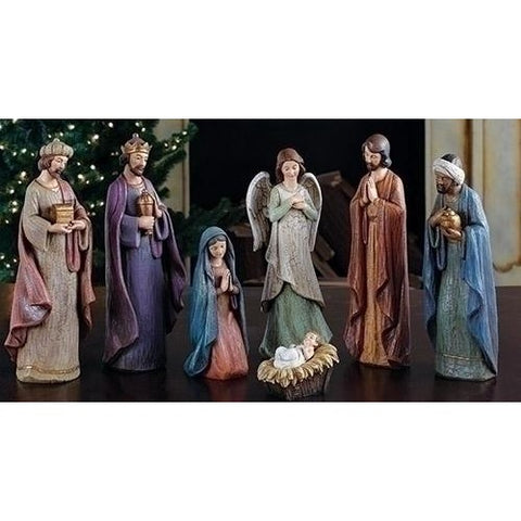 7 Piece Nativity Figurine Set, Christmas Nativity Figurine Scene Sets - SavvyNiche.com