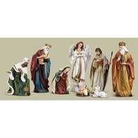 8 Piece Nativity Set Figurine Characters, Christmas Nativity Figurine Scene Sets - SavvyNiche.com