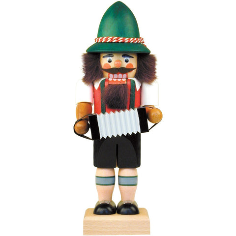 Accordion Player, Ulbricht Medium Size Nutcrackers - SavvyNiche.com