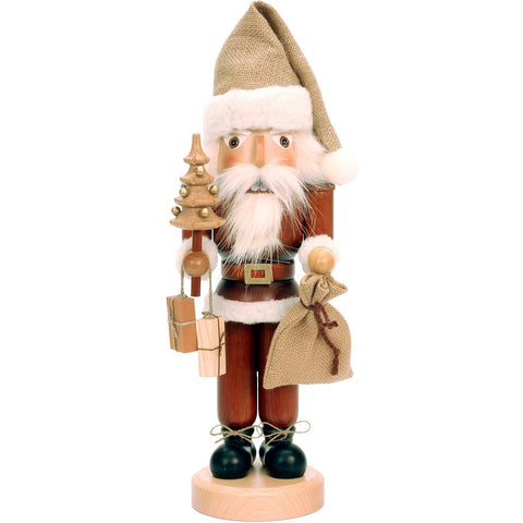 Santa Claus with sack for toys, Ulbricht Large Size Nutcrackers - SavvyNiche.com