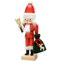 Santa with Bell, Ulbricht Medium Size Nutcrackers - SavvyNiche.com