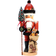 Santa Claus with teddy bear, Ulbricht Large Size Nutcrackers - SavvyNiche.com
