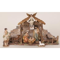 9 Piece Nativity Scene Set, Christmas Nativity Figurine Scene Sets - SavvyNiche.com
