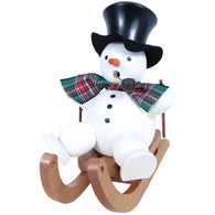 Snowman on sleigh, Ulbricht German Christmas Smokers - SavvyNiche.com