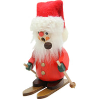 Mini Skier Santa Skiing, Ulbricht German Christmas Smokers - SavvyNiche.com