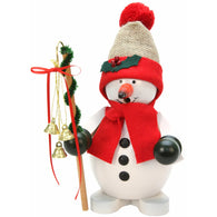 Snowman with red scarf and bells, Ulbricht German Christmas Smokers - SavvyNiche.com