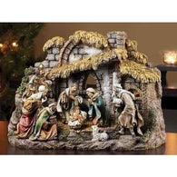 10 Piece Manger Scene Nativity, Christmas Nativity Figurine Scene Sets - SavvyNiche.com