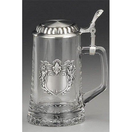 Glass Stein<br>w/ Engraveable Crest
