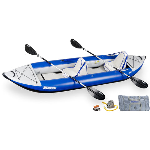 Sea Eagle 380X Inflatable Whitewater Kayak Deluxe Package, Inflatable Kayak - SavvyNiche.com