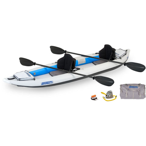 Sea Eagle FastTrack 385FTK Inflatable 2 Person Kayak - Pro Carbon, Inflatable Kayak - SavvyNiche.com