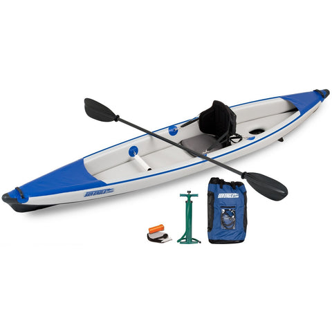 Razorlite Inflatable Kayak 393RLK Solo Pro Carbon Package, Inflatable Kayak - SavvyNiche.com