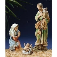 3 Piece Nativity Holy Family, Christmas Nativity Figurine Scene Sets - SavvyNiche.com