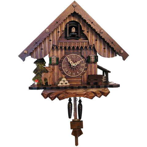 Deer Black Forest Chalet, Quartz Chalet Cuckoo Clocks - SavvyNiche.com