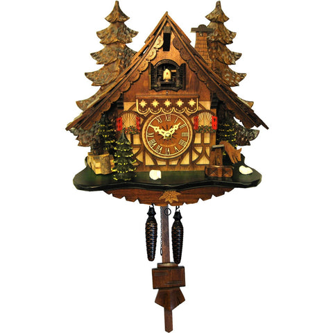 Quartz Cuckoo Clock Chalet Black Forest Trees, Quartz Chalet Cuckoo Clocks - SavvyNiche.com