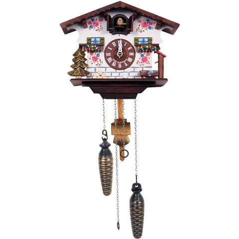 Traditional German Chalet Scene, Quartz Chalet Cuckoo Clocks - SavvyNiche.com