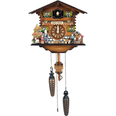 Battery Operated Cuckoo Clocks Heidi's Chalet Family, Quartz Chalet Cuckoo Clocks - SavvyNiche.com
