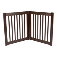 "Dog Gate Free Standing Wooden Pet Gate - 27"" Mahogany"