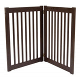 "Dog Gate Freestanding Wooden Pet Gate - 32"" Mahogany"
