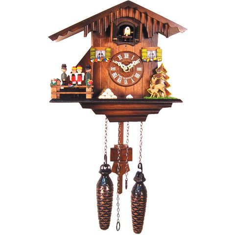 Moving Dancers, Quartz Chalet Cuckoo Clocks - SavvyNiche.com