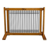 "Small Dog Gates Free Standing Wood/Wire Pet Gate - 20"" Artisan Bronze"