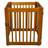 "Wide Dog Gate Free Standing Wood Pet Gate - 27"" Artisan Bronze"